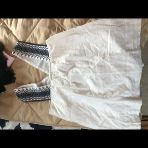 J. Crew Tops - White tank top with design on straps